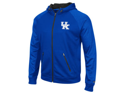 Kentucky Wildcats Colosseum NCAA Men's Sleet Embossed Full Zip Hoodie