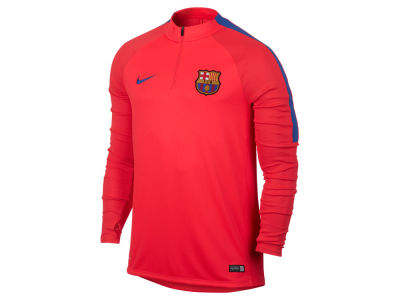 FC Barcelona Nike Club Team Men's Drill Top Squad Quarter Zip Jacket
