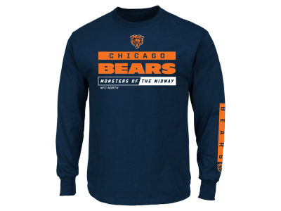Chicago Bears NFL Men's Primary Receiver Long Sleeve T-Shirt