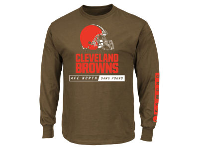 Cleveland Browns NFL Men's Primary Receiver Long Sleeve T-Shirt