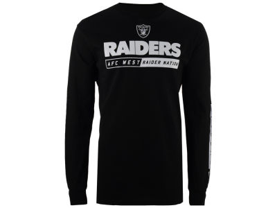 Oakland Raiders NFL Men's Primary Receiver Long Sleeve T-Shirt