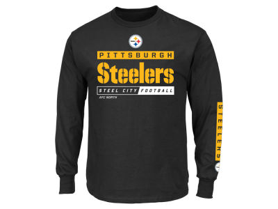 Pittsburgh Steelers NFL Men's Primary Receiver Long Sleeve T-Shirt