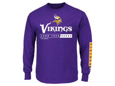 Minnesota Vikings NFL Men's Primary Receiver Long Sleeve T-Shirt