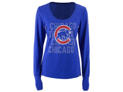 Chicago Cubs '47 MLB Women's Forward Long Sleeve T-Shirt