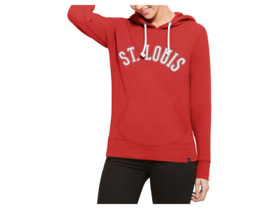 St. Louis Cardinals '47 MLB Women's Shimmer Cross Check Hooded Sweatshirt