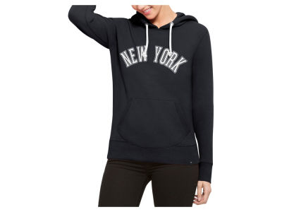 New York Yankees '47 MLB Women's Shimmer Cross Check Hooded Sweatshirt