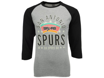 San Antonio Spurs '47 NBA Men's Lockdown Raglan Shirt