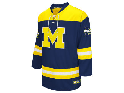 Michigan Wolverines Colosseum NCAA Men's Open Net Hockey Jersey