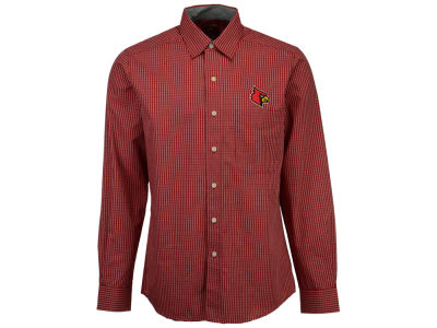 Louisville Cardinals Antigua NCAA Men's Division Button Down Shirt