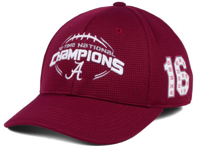 Alabama Crimson Tide Top of the World NCAA 16 Time Football National Champ Cap