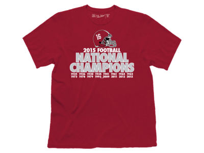 Alabama Crimson Tide Retro Brand NCAA Men's National Champ Verbiage T-Shirt
