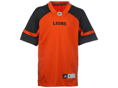 BC Lions adidas CFL Youth Replica Jersey
