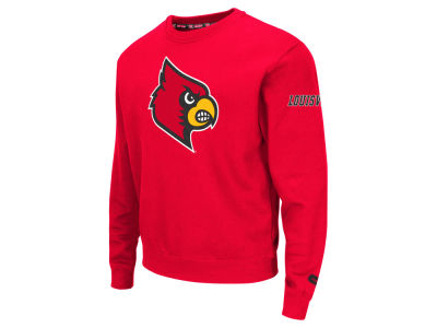 Louisville Cardinals Colosseum NCAA Men's Zone II Crewneck Fleece Sweatshirt