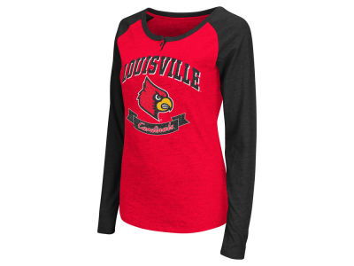 Louisville Cardinals Colosseum NCAA Women's Healy Raglan Long Sleeve T-Shirt