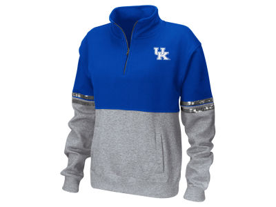 Kentucky Wildcats Colosseum NCAA Women's Rudy Quarter Zip Sweatshirt