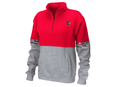 Louisville Cardinals Colosseum NCAA Women's Rudy Quarter Zip Sweatshirt
