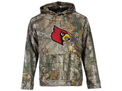 Louisville Cardinals Colosseum NCAA Youth Realtree Raglan Pullover Hoodie