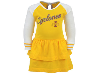 Iowa State Cyclones NCAA Newborn Girls Kacey Long Sleeve Dress