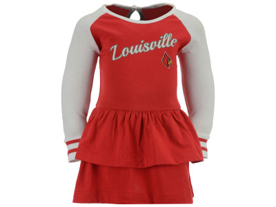 Louisville Cardinals NCAA Newborn Girls Kacey Long Sleeve Dress