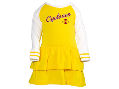 Iowa State Cyclones NCAA Infant Girls Kacey Long Sleeve Dress