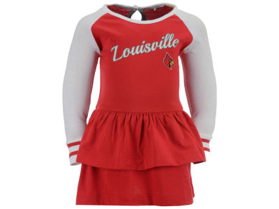 Louisville Cardinals NCAA Infant Girls Kacey Long Sleeve Dress
