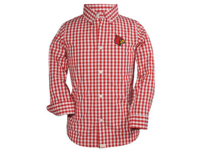 Louisville Cardinals NCAA Youth Logan Long Sleeve Button Down Shirt