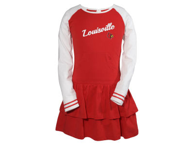Louisville Cardinals Garb NCAA Youth Girls Kacey Long Sleeve Dress