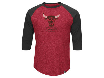 Chicago Bulls Majestic NBA Don't Judge HWC Three Quarter Raglan T-Shirt