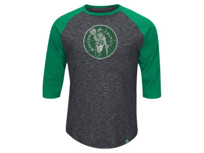 Boston Celtics Majestic NBA Don't Judge HWC Three Quarter Raglan T-Shirt