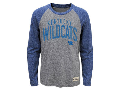 Kentucky Wildcats Outerstuff NCAA Kids Pedigree Tri Raglan Long Sleeve T-Shirt