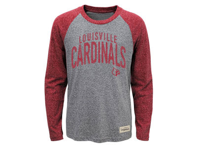 Louisville Cardinals NCAA Youth Pedigree Tri Raglan Long Sleeve T-Shirt