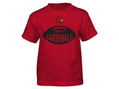 Louisville Cardinals NCAA Kids Embossed Football T-Shirt