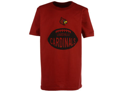 Louisville Cardinals NCAA Youth Embossed Football T-Shirt