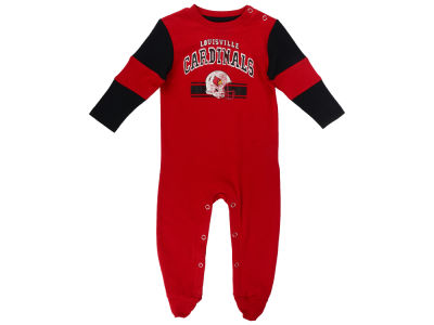 Louisville Cardinals NCAA Newborn Team Believer Long Sleeve Coverall