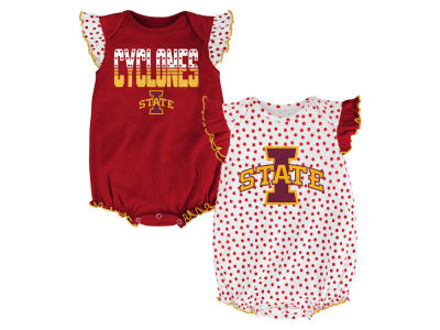 Iowa State Cyclones Outerstuff NCAA Newborn Girls Polka Fan Set