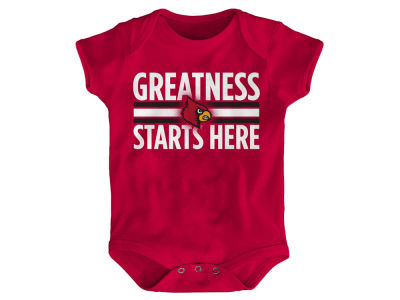 Louisville Cardinals NCAA Newborn Greatness Starts Here Creeper