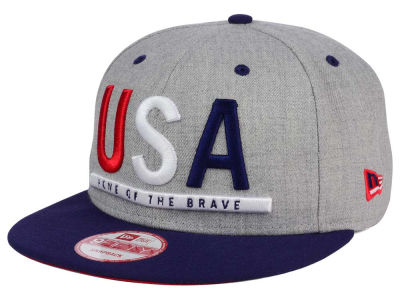 USA United States of America Flag Phrase 9FIFTY Snapback Cap