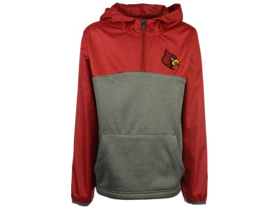 Louisville Cardinals Outerstuff NCAA Youth Convex 1/4 Zip Pullover Hoodie