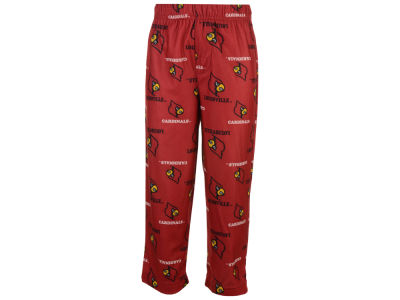 Louisville Cardinals NCAA Kids All-Over Logo Sleep Pants