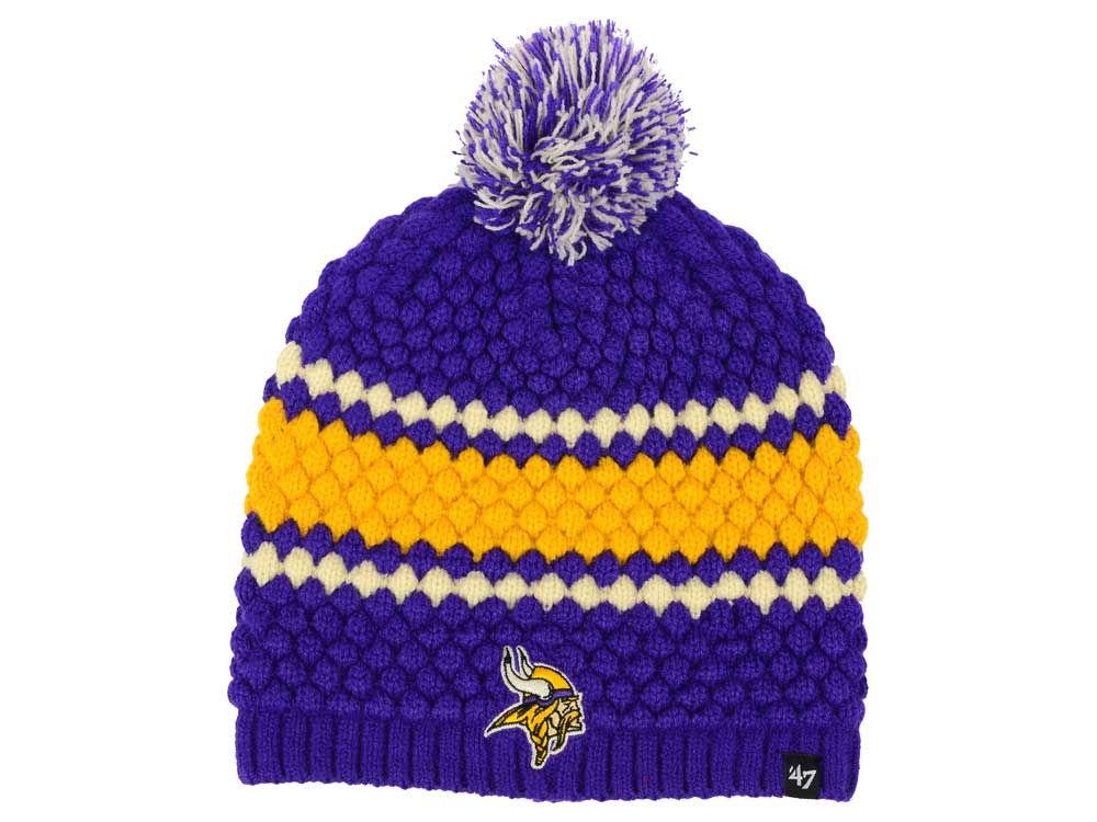 2b5638240 Minnesota Vikings  47 NFL Women s Leslie Pom Knit
