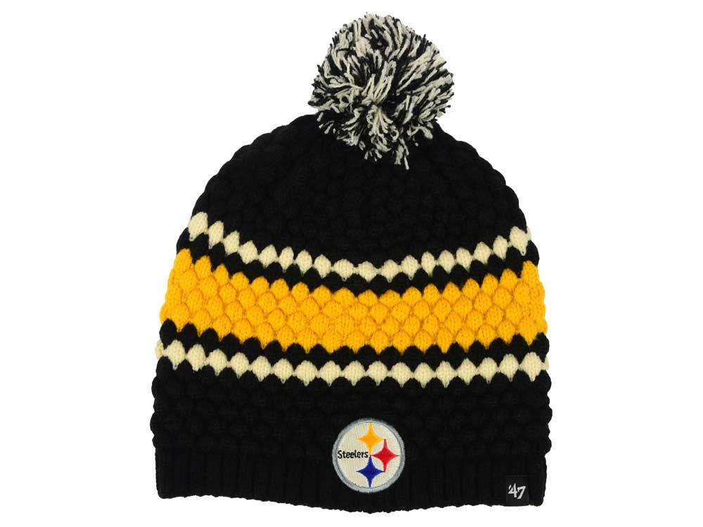 Pittsburgh Steelers  47 NFL Women s Leslie Pom Knit  44006e353