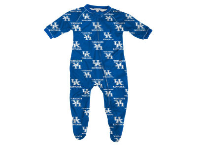 Kentucky Wildcats Outerstuff NCAA Newborn All-Over Logo Raglan Full Zip Coverall