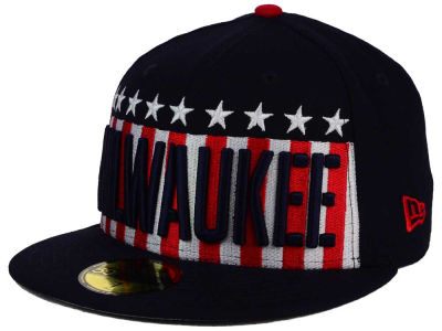 Milwaukee Brewers New Era MLB Big USA 59FIFTY Cap
