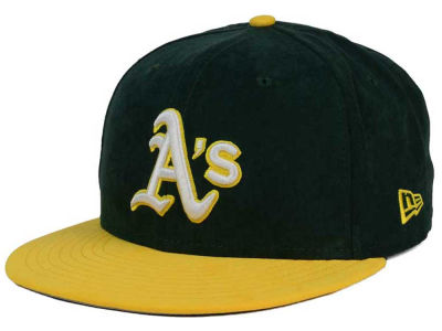 Oakland Athletics New Era MLB Summer Suede 9FIFTY Snapback Cap