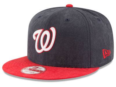 Washington Nationals New Era MLB Summer Suede 9FIFTY Snapback Cap