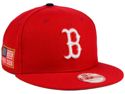 Boston Red Sox New Era MLB All American Patch 9FIFTY Snapback Cap