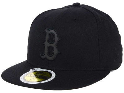 Boston Red Sox New Era MLB Black on Black Iridescent 59FIFTY Cap