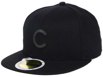 Chicago Cubs New Era MLB Black on Black Iridescent 59FIFTY Cap