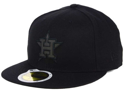 Houston Astros New Era MLB Black on Black Iridescent 59FIFTY Cap
