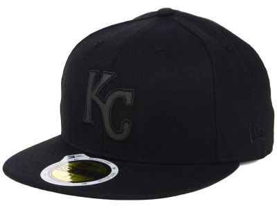 Kansas City Royals New Era MLB Black on Black Iridescent 59FIFTY Cap
